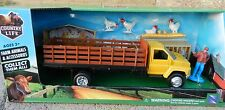 NEW-RAY 1:43 *COUNTRY LIFE* Yellow Chevy 6500 Stakebed Truck w/Chickens *NIB*