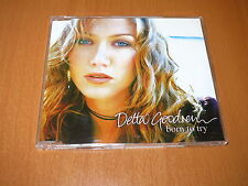 DELTA GOODREM - BORN TO TRY CD SINGLE 3 TRACKS AUSTRALIA