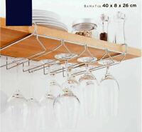 Gläserschiene 34 cm 2reihig Gläserhalter Glashalter Sektglashalter Glasregal