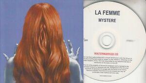 LA FEMME Mystere 2016 French 15-trk numbered promo test CD