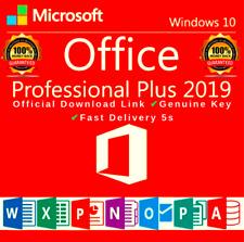 Microsoft Office 2019 Professional Plus 32/64 Bit instantanée livraison Clé de l