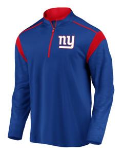 New York Giants Blue Defender Pullover Half Zip NFL Team Apparel Medium NEW
