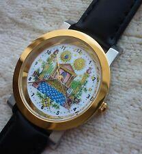 Armbanduhr Zifferblatt mit Freimaurer Motiv - Ronda schweizer Quarzuhrwerk - 69