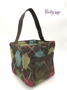 Thirty one Littles carry-all Caddy small utility tote bag 31 gift Windsor Argyle