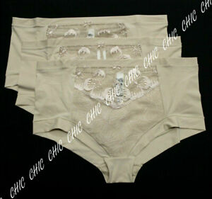 New Ex M & S Floral Embroidered High Rise Shorts Briefs Knickers 1, 3, 5 Pack