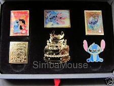 Japan Disney Store JDS Stitch Day 2015 6 Pin Boxed Set Lilo Angel Birthday Ohana