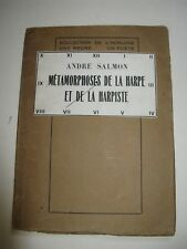 ANDRE SALMON METAMORPHOSES HARPE & HARPISTE POESIES 1926 ENVOI Signé SURREALISME