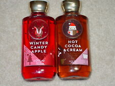 BATH AND BODY WORKS SHOWER GEL WINTER CANDY APPLE & HOT COCOA & CREAM BRAND NEW