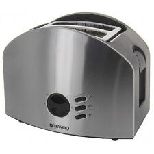 Daewoo 2 Slice Toaster Stainless Steel European Voltage 220 VOLTS