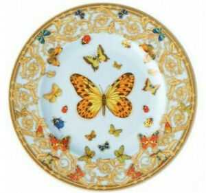 VERSACE BY ROSENTHAL BUTTERFLY GARDEN BREAD&BUTTER PLATE #409609-10218 BRAND NIB