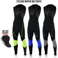 Mens Cycling Bib Tights Super Roubaix Winter Cold Wear Thermal Padded Tight