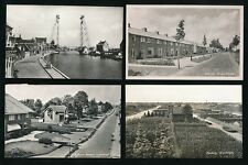 Netherlands Holland BOSKOOP x4 topo RP PPCs c1940/50s?