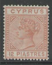CYPRUS SG37 1893 12pi ORANGE-BROWN FINE USED