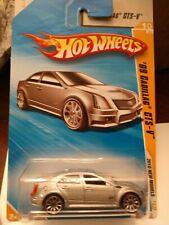 2010 Hot Wheels New Models * '09 Cadillac CTS-V * Silver * NIP 1:64 Scale
