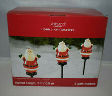 Ashland Christmas Lighted Santa Path Markers - NIB