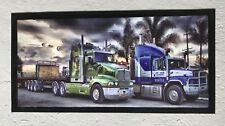 Bar Mat Runner Pub Trucking Rubber non slip 2 Trucks Man Cave Gift Aussie
