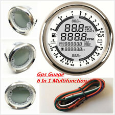 GPS Gauge Meter Speedometer Tachometer Water Temp Fuel Level Pressure Volt 6in1