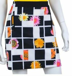 NWT Ladies EP PRO BLACK & WHITE Floral Golf Skort - size 12 FANCY THAT