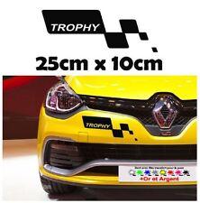 1x sticker Renault trophy pare choc clio megane RS R.S