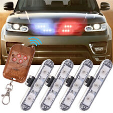 Car 12 LED Blue Police Strobe Flash Light Dash Emergency Flashing Light