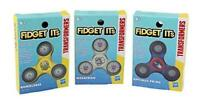 Transformers Fidget Its Fidget Spinners 3 Pack - Optimus Prime, Bumblebee and Me