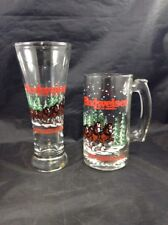 Budweiser Clydesdale Horses Glass and Mug 1990s Glass Bud Breweriana
