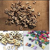 100X Letters Wooden Alphabet Embellishment Scrapbooking Cardmaking Craft gift SE