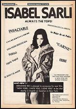 ISABEL SARLI__Original 1981 Cannes Trade AD / poster__movie promo__ARMANDO BO
