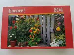 Encore Flower Garden 504 Piece Jigsaw Puzzle 06052 New 2007 by Mega