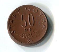 50 Pfennig Stadt Gotha 1921 Porzellan Meissen Quäker Dank M_1260