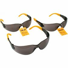 3 Pairs of DeWALT Protector Smoke Lens Safety Glasses
