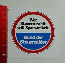 Aufkleber/Sticker: Bund der Steuerzahler (18031612)