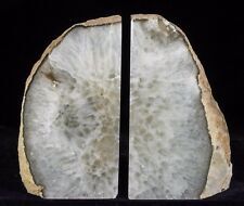 9Lbs Agate Bookends Geode Crystal Polished Quartz Druzy Brazil Specimen