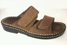 MINNETONKA Womens Sandals Velcro Brown Suede Sz US 6 EU 36-37