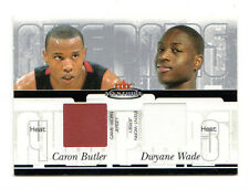 Caron Butler & Dwyane Wade Nba 2003-04 Fleer Mystique Awe Pares Doble Jersey De Calor