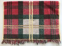 Ralph Lauren Hand Towel Plaid Red Green Gold All Cotton USA Vintage