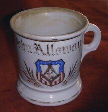 Vintage 19th C. Order of United American Mechanics (OUAM) Member Shaving Mug