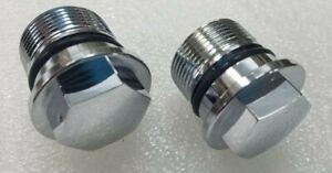 Honda CB450 CB750 CB550 XL350 Chrome Fork Bolt Set 90123-300-000 - Repro