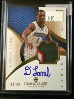 F20846  2012-13 Immaculate Collection #144 Jeremy Lamb JSY AUTO/99 RC
