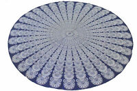 Indian 100% Cotton Decor Round Table Cover Wedding Banquet Beach Colorful Cloth