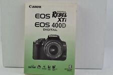 Canon EOS Rebel XTi / 400D Digital Camera Instruction Manual English GC (218)