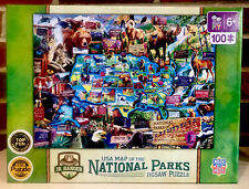 Puzzle- Jr. Ranger USA Map Of National Parks: Puzzle of the Year 2018; Ages 6+
