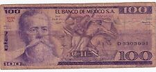 100 Cien Pesos 1981 El Banco De Mexico D3303991 American Banknotes Circulated