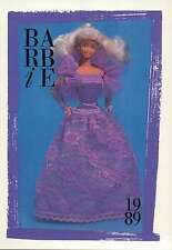 """Barbie Collectible Fashion Card """" Lilac & Lovely Barbie, Sears """" 1989"""