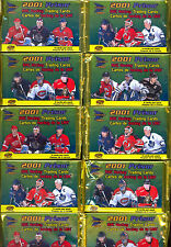 2001 PACIFC McDONALD HOCKEY 10 UNOPENED SEALED PACKS STAR CARD & PLATINUM BLUE