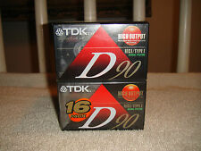 TDK D90 High Output Cassettes-Lot Of 16 Brand New Sealed Cassettes-IECI/Type 1