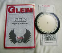 GLEM E6B Flight Computer W/ Manual & Gleim Navigational Plotter Card Ru;e