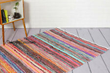Chindi Rug 3x5 Ft & 4x6 Ft Square Area Rug Hand Woven Cotton Flooring Décor Rugs