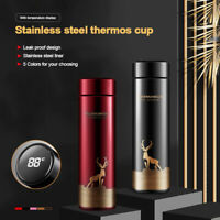Smart Insulated Mug Vacuum Cup Thermos Bottle LED Display Stainless Steel