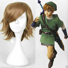 The Legend of Zelda Link Cosplay brown short Straight hair full wig